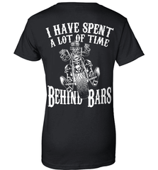 Biker Shirt - I Have Spend A Lot Of Time Behind Bars - Shirt Loft - 9