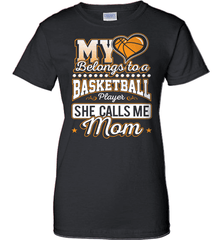 Basketball Mom Shirt - My Heart Belongs To A Basketball Player. She Call Me Mom - Shirt Loft - 9