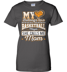 Basketball Mom Shirt - My Heart Belongs To A Basketball Player. She Call Me Mom - Shirt Loft - 10