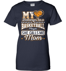 Basketball Mom Shirt - My Heart Belongs To A Basketball Player. She Call Me Mom - Shirt Loft - 11