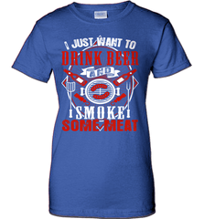 BBQ Shirt - I Just Want To Drink Beer And Smoke some Meat - Shirt Loft - 12