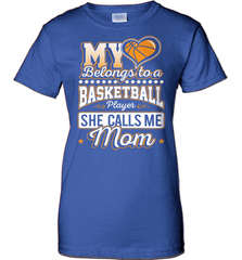 Basketball Mom Shirt - My Heart Belongs To A Basketball Player. She Call Me Mom - Shirt Loft - 12