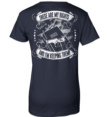Gun Shirt - These Are My Rights And I Am Keeping Them (Design on The Back) - Shirt Loft - 10