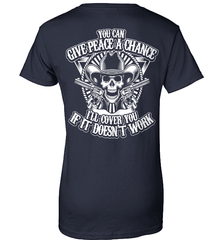 Gun Shirt - You Can Give Peace A Chance. I Will Cover You If It Doesn't Work - Shirt Loft - 10