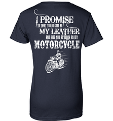 Biker Shirt - I Promise To Treat You As Good As My Leather And Ride You As Much as My Motorcycle - Shirt Loft - 10