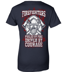 Firefighter Shirt - Firefighters: Fueled By Fire, Driven By Courage - Shirt Loft - 11
