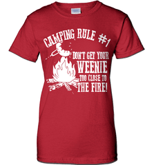 Camping Shirt - Camping Rule #1. Don't Get Your Weenie Too Close To The Fire! - Shirt Loft - 12