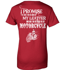 Biker Shirt - I Promise To Treat You As Good As My Leather And Ride You As Much as My Motorcycle - Shirt Loft - 11