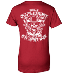 Gun Shirt - You Can Give Peace A Chance. I Will Cover You If It Doesn't Work - Shirt Loft - 11
