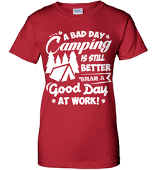 Camping Shirt - A Bad Day Camping Is Better Then A Good Day Working - Shirt Loft - 11