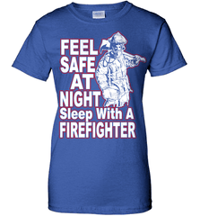 Firefighter Shirt - Feel Safe At Night. Sleep With A Firefighter - Shirt Loft - 12