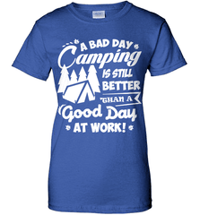 Camping Shirt - A Bad Day Camping Is Better Then A Good Day Working - Shirt Loft - 12