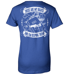 Gun Shirt - These Are My Rights And I Am Keeping Them (Design on The Back) - Shirt Loft - 12