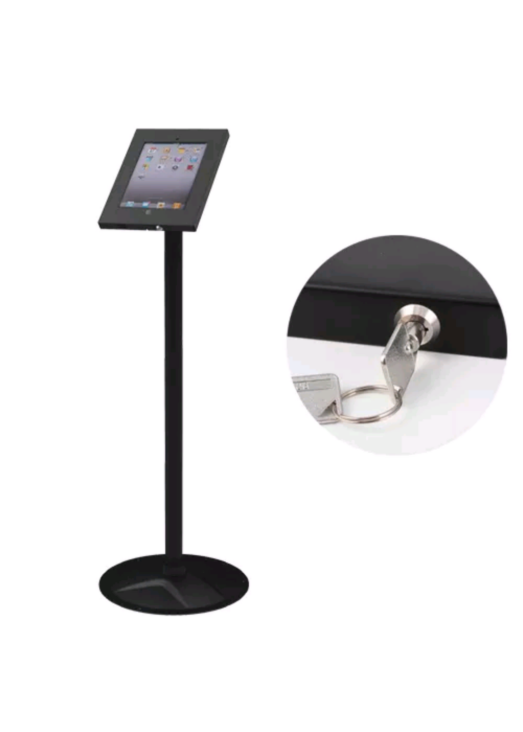 iPad 2/3/4 air Lockable stand - Simtek World