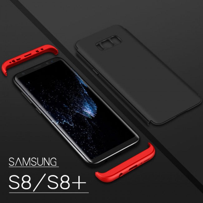 Ultra thin Slim Hard Case 360° Protective Cover For Samsung Galaxy S8 (Red Black) - Simtek World