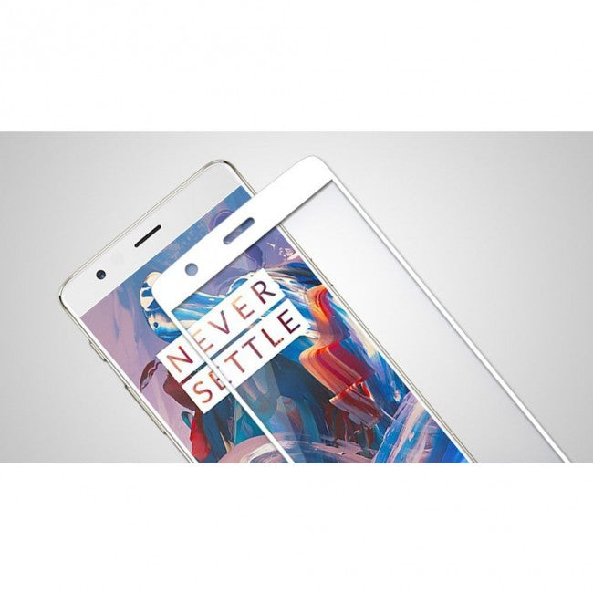 Oneplus 5 Tempered Glass Screen Protector (White) - Simtek World