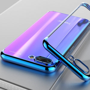 TPU Edge Plating Shockproof Bumper Slim Clear Case Cover for Huawei Honor 10 (Blue) - Simtek World