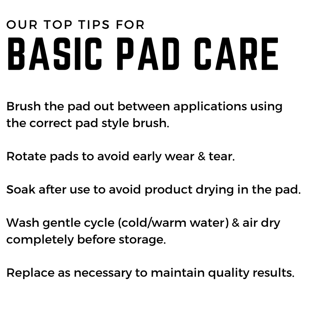 Buffing Pad Care 101