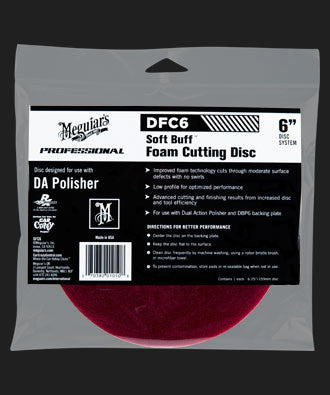 DFC6 - Soft Buff DA Foam Cutting Disc - 6""