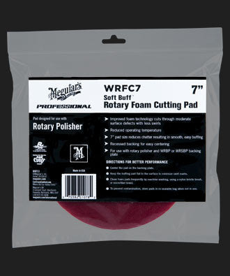 Meguiar's Soft Buff Rotary Foam Cutting Pad - 7""