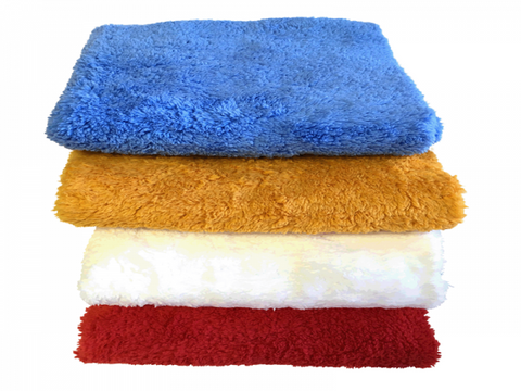 Coral Fleece Laser Cut Edgeless Microfiber Towel-16x16(12/pk)