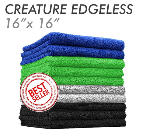 CREATURE EDGELESS 70/30 Plush Dual Pile Microfiber Towel - 25 Pack