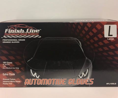 Finish Line Automotive Gloves Diamond Texture - Orange