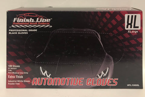 Finish Line Automotive Gloves 5mil - Black