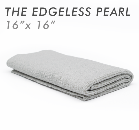 The EDGELESS PEARL 16 X 16 Microfiber Ceramic Coating Towel - Ice Grey