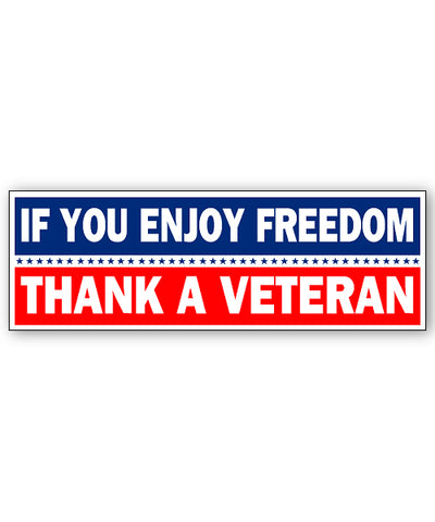 Thank a Veteran Bumpersticker Car Magnet