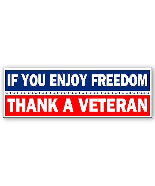 Thank a Veteran Sticker
