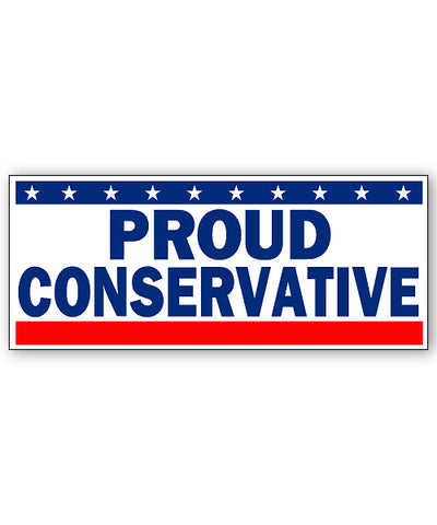 Proud Conservative Bumpersticker Car Magnet