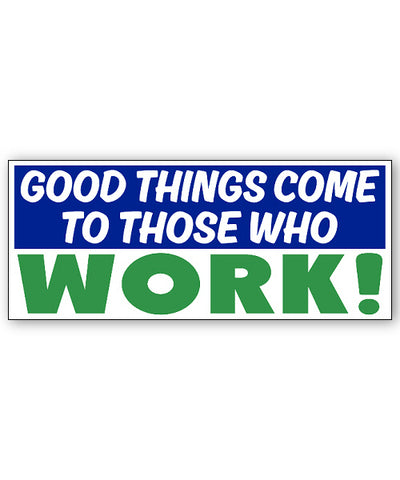 Easier than Working Bumpersticker Car Magnet