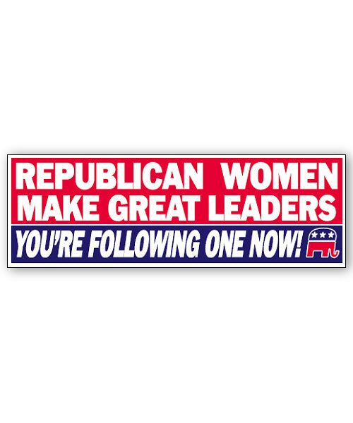 Republican Women Bumpersticker Car Magnet