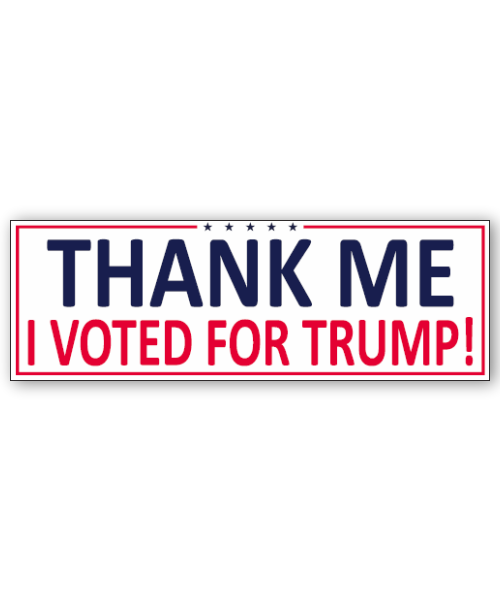 Thank Me Sticker