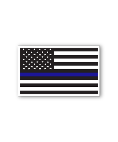 Thin Blue Line Bumpersticker Car Magnet