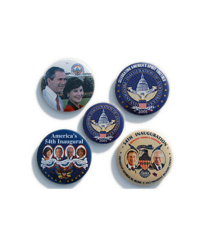 2001 Inauguration Button Set