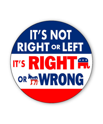 Right or Wrong Button Magnet