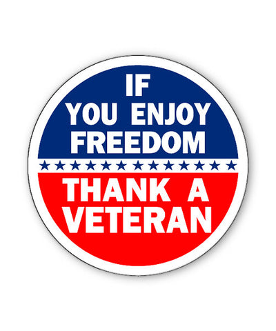 Thank a Veteran Button Magnet