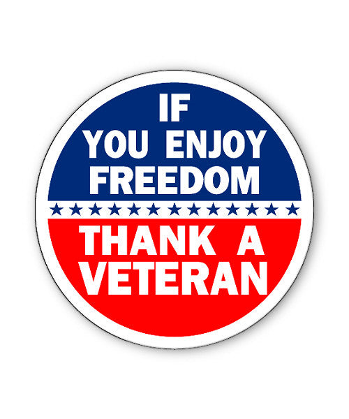Thank a Veteran Button