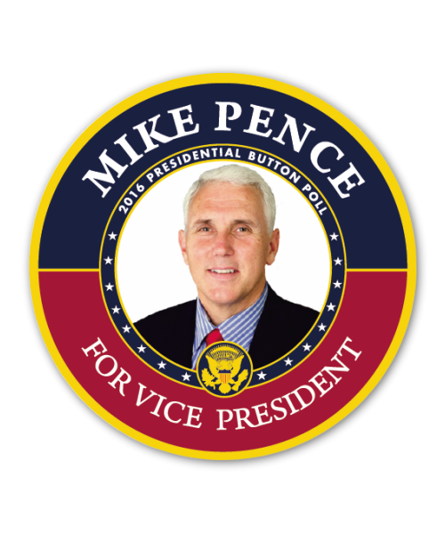 Pence for VP Button