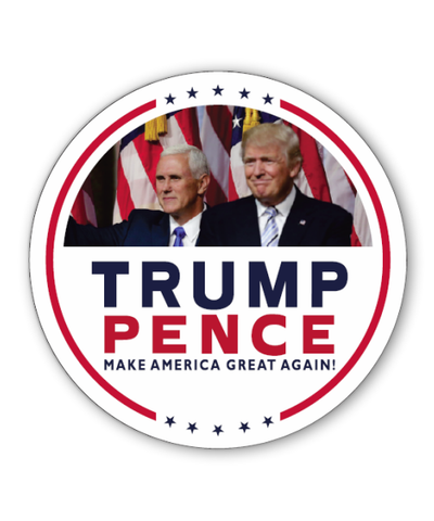Trump Pence Campaign Photo Button