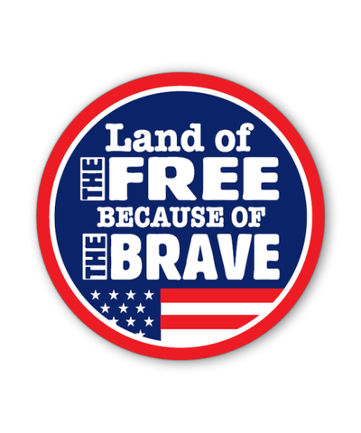 Land of the Free Button Magnet