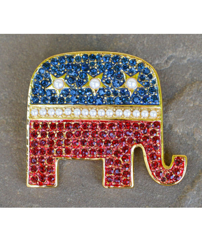 GOP Elephant Brooch