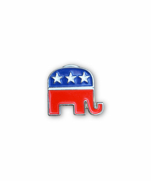 GOP Elephant Lapel Pin
