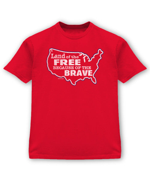 Land of the Free Red Tee
