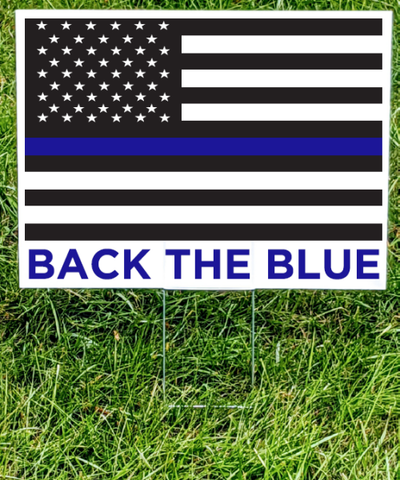 Back the Blue Yard Sign