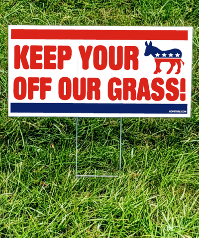 Keep Off the Grass Yard Sign