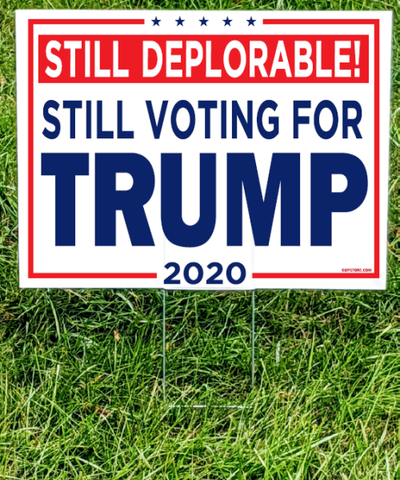Trump Pence 2020 Campaign Yard Sign