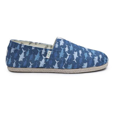 PAEZ Original  RAW PRINT SHARKS BLUE